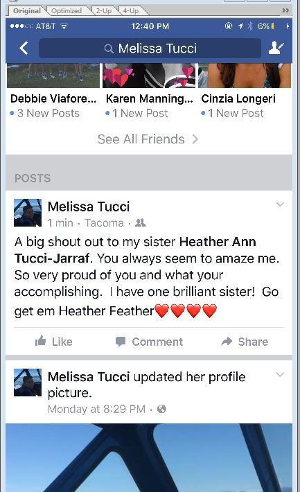 M-post of Heather- FB