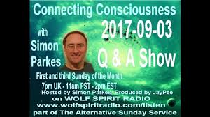 2017-09-03 Connecting Consciousness - Simon Parkes QA