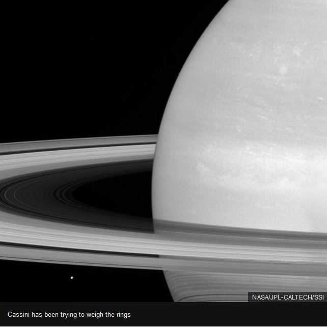 cassini weighing rings