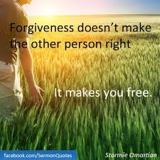A Vision for Freedom via Forgiveness
