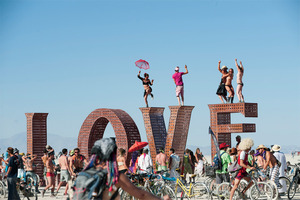 BurningManLoveSign