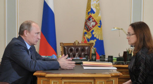 Vladimir Putin meets with Elvira Nabiullina