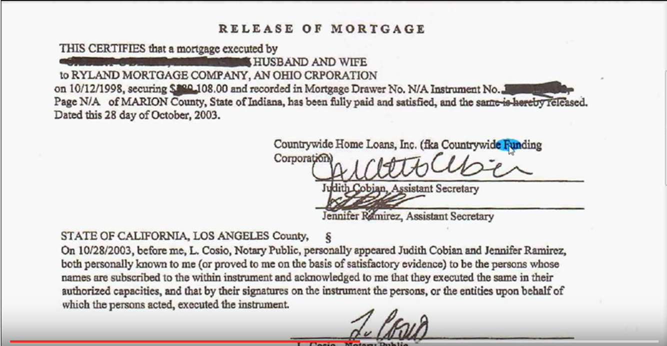 Release of Mortgage, Certificate of Satisfaction: proof your ...