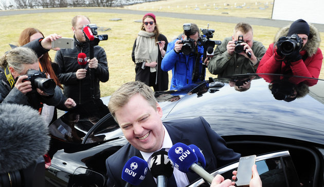 Sigtryggur Johannsson/Reuters Iceland's Prime Minister Sigmundur David Gunnlaugsson resigned Tuesday after a massive leak of documents revealed his wife owned an offshore company with big claims on collapsed Icelandic banks.