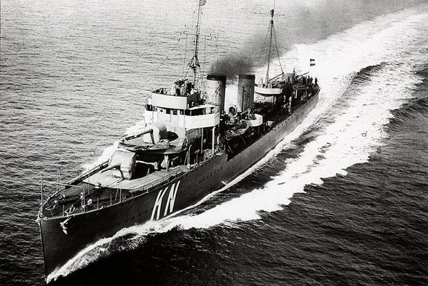 HNLMS Kortenaer, which was sunk in the Battle of Java in 1942 Photograph: Royal Netherlands Navy / Koninklijke Marine / Wikipedia