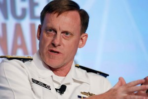 Adm. Michael S. Rogers, director of the National Security Agency, speaks at the third annual Intelligence and National Security Summit in Washington in September. (Gary Cameron/Reuters)