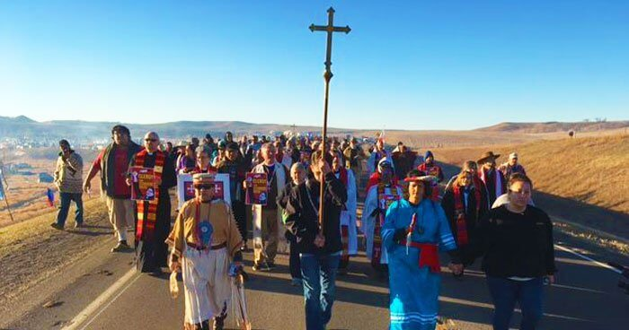 Over 500 clergy descended upon Standing Rock to stand in solidarity.