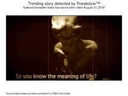 Edward Snowden leaks top secret alien video August 21, 2016