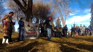 Forgiveness March to Morton County Police Station