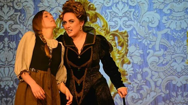 Cinderella (left) is seen here with the wicked stepmother