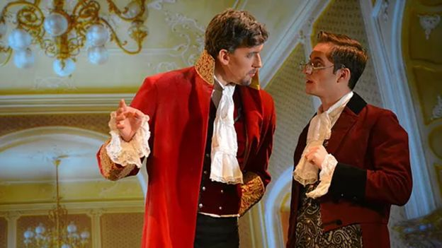 In Cinderella the king (left) organises a ball so that the prince can choose a bride