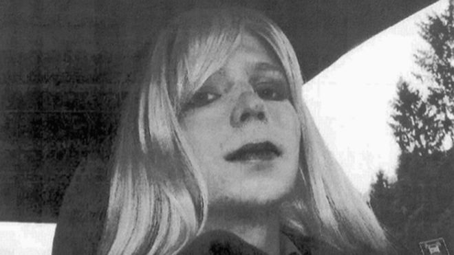 Manning declared her new identity the day after sentencing