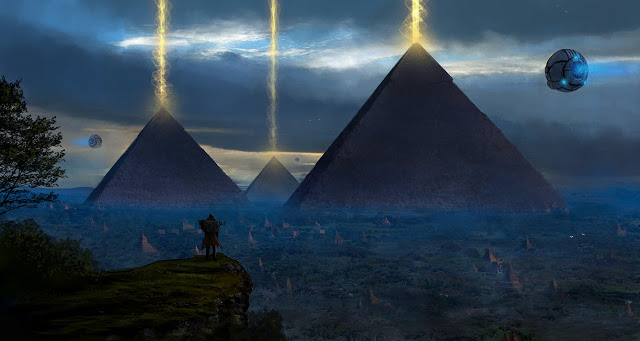 Egypt pyramids aliens ufos