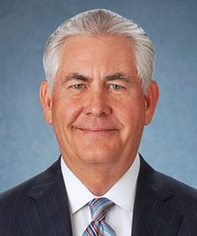 Exxon-Mobil Chief Executive Officer Rex Tillerson, President Donald Trump's choice to be Secretary of State.