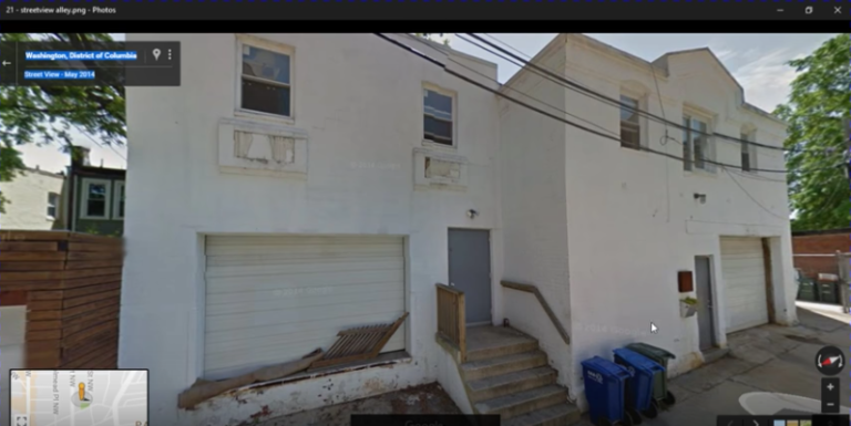 "Notice the ""kill room"" at the building on the right with no windows on the ground floor."