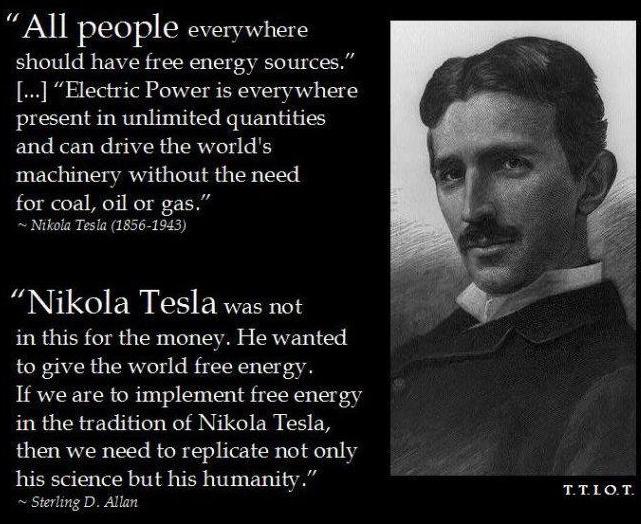 Nikola Tesla had O- blood.