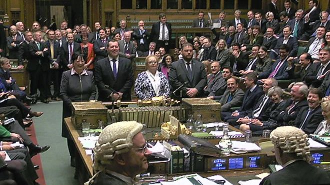 Some Conservative MPs applauded after the result was announced