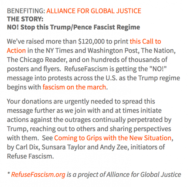 undraiser for Alliance for Global Justice on CrowdRise