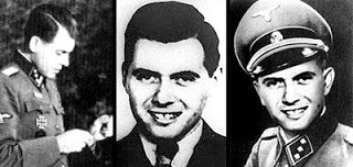 Pictures 2, 3, & 4: I've added these pictures so you can compare a known side profile picture of Josef Mengele with the above picture from the year book. Keep in mind that pictures 2, 3, and 4 predate the yearbook photo by 10 years