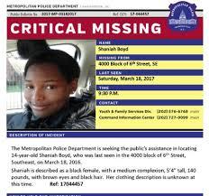 ALERT Number of Missing D.C. Girls Spikes