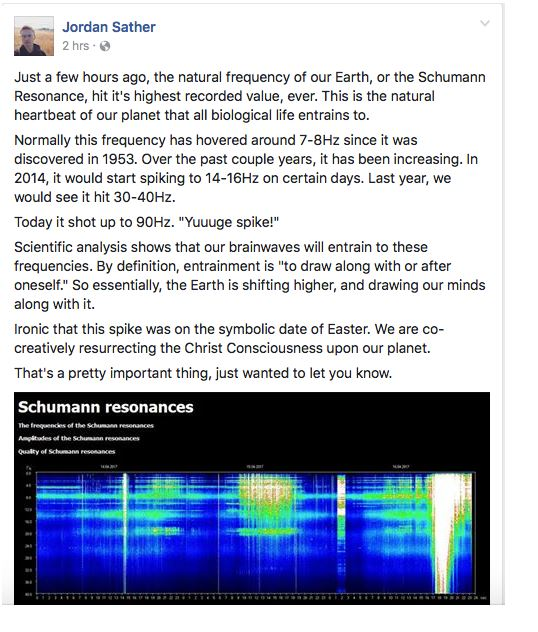 schumann resonances increase