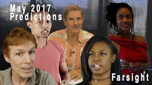 Remote Viewing May 2017 Farsight Predictions
