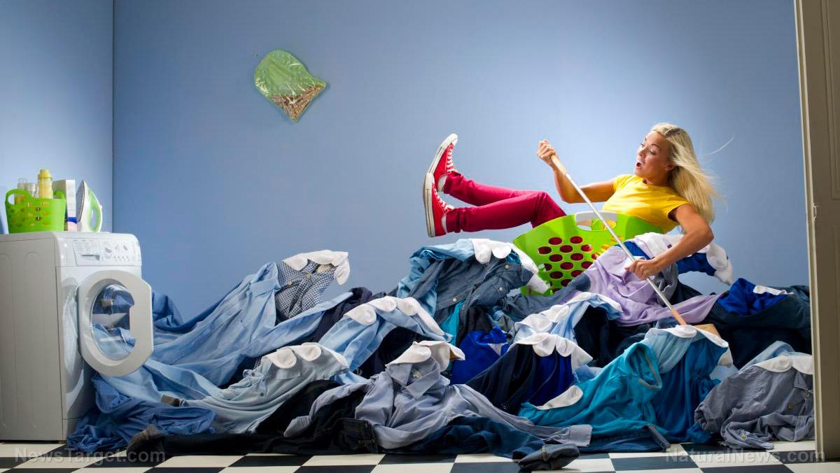 Woman-Flood-Laundry-Dryer-Boat