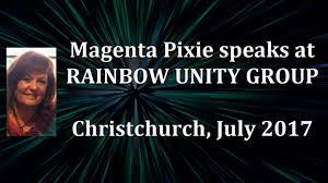 Magenta Pixie speaks at Rainbow Unity Group, July 2017