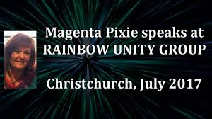 Magenta Pixie speaks at Rainbow Unity Group, July 2017