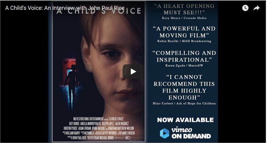 Image result for a child's voice John Paul Rice
